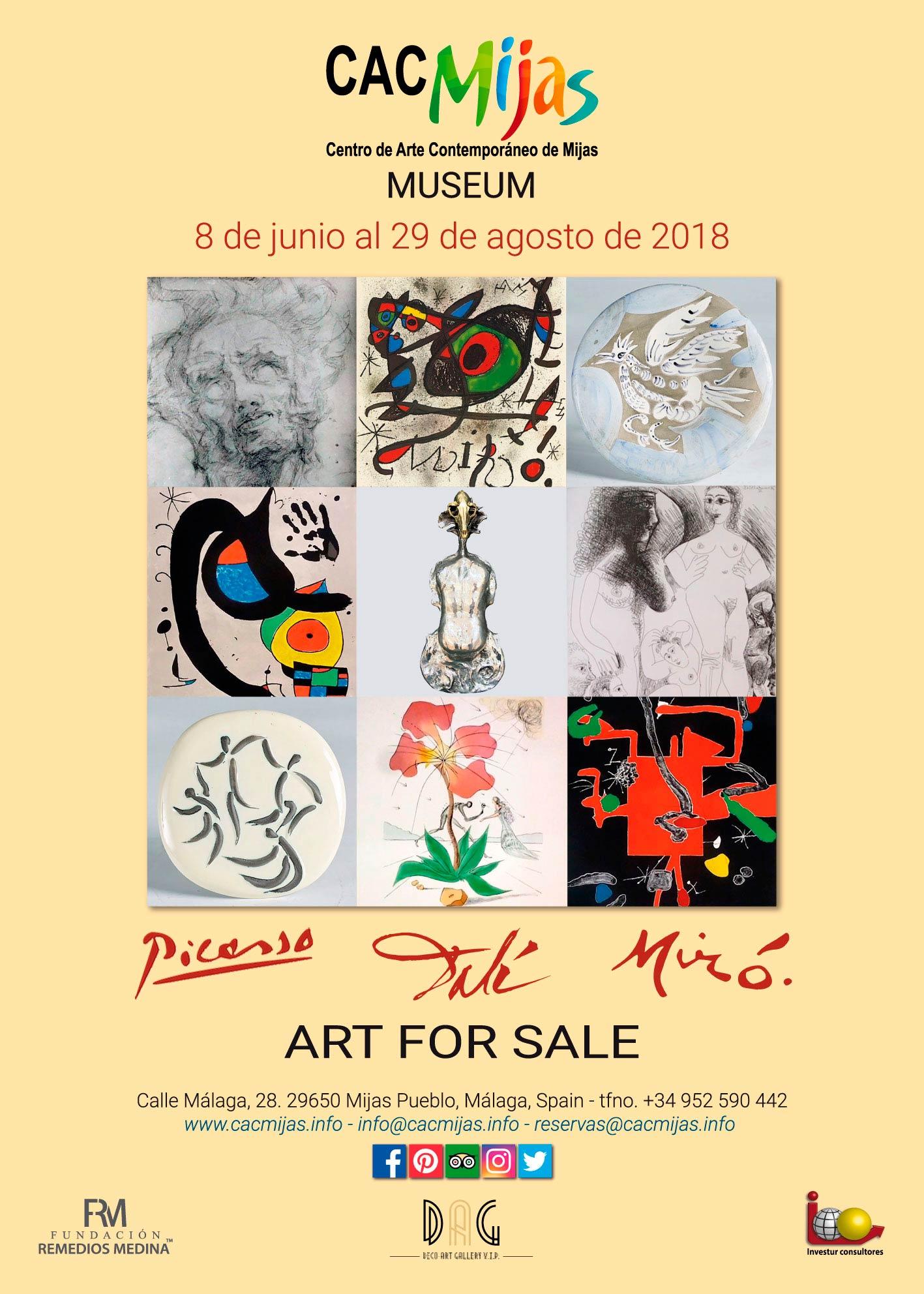 PICASSO, DALÍ, MIRÓ. ART FOR SALE