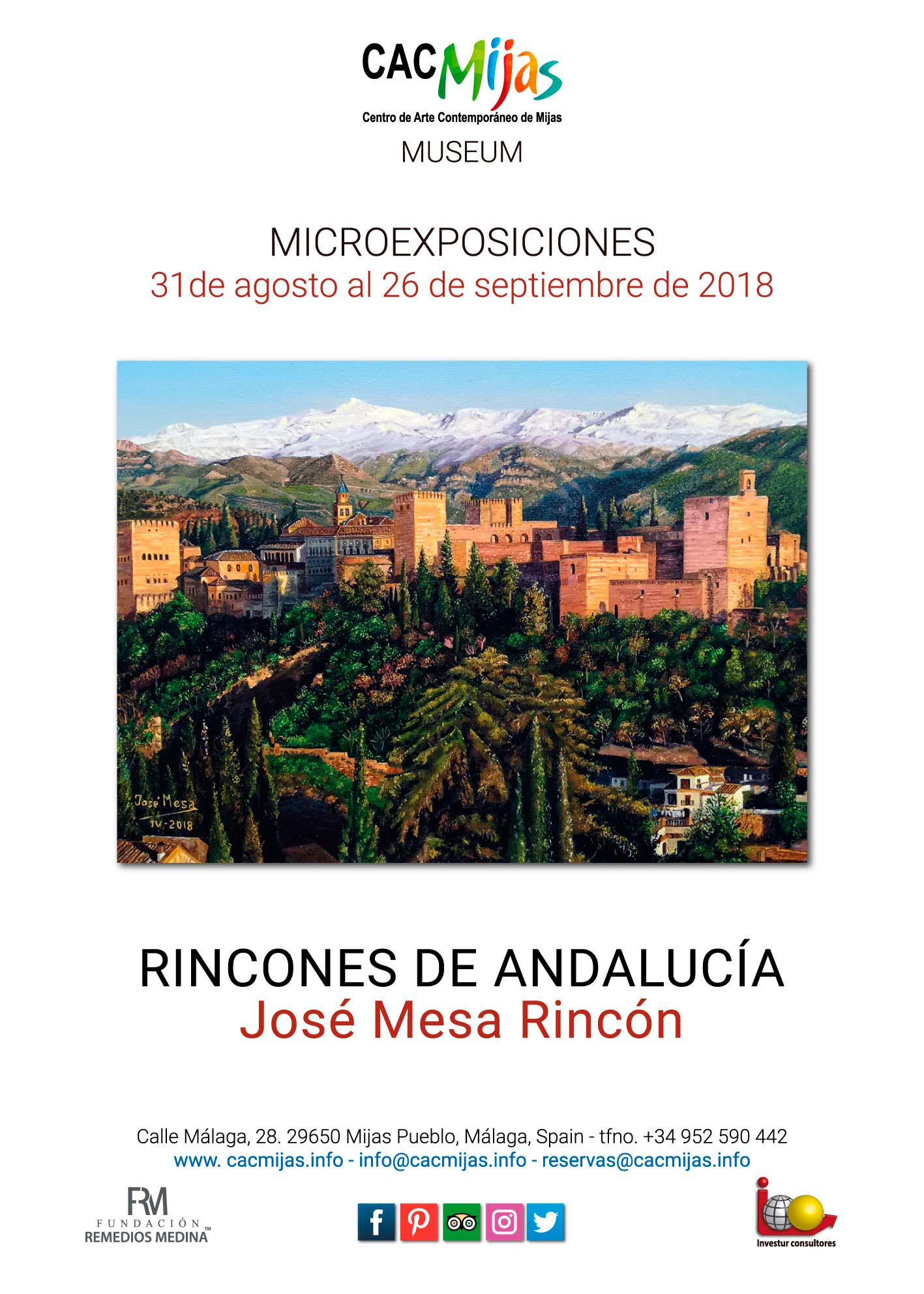 JOSÉ MESA RINCÓN. RINCONES DE ANDALUCÍA